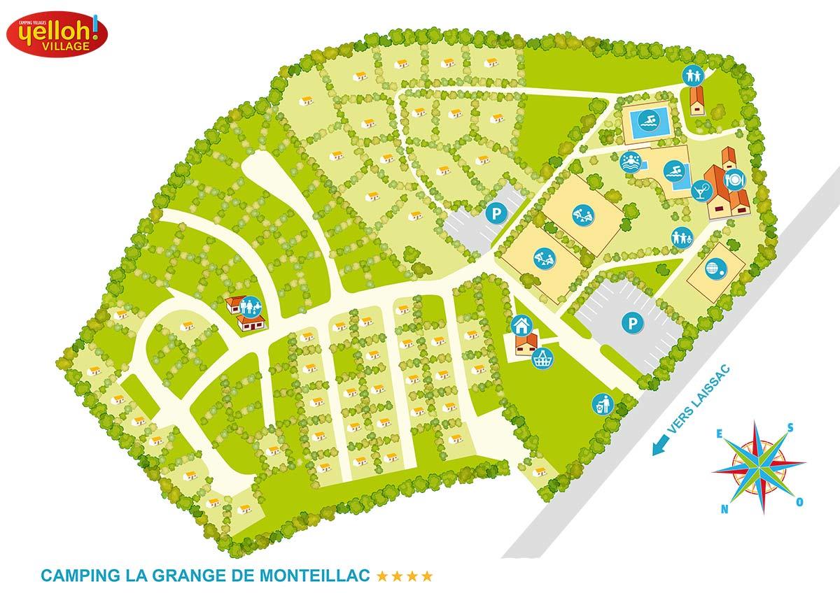 La Grange de Monteillac, camping pitches Midi - Pyrénées